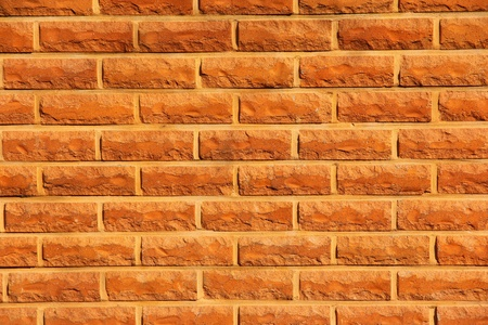 bright red brick wall texture