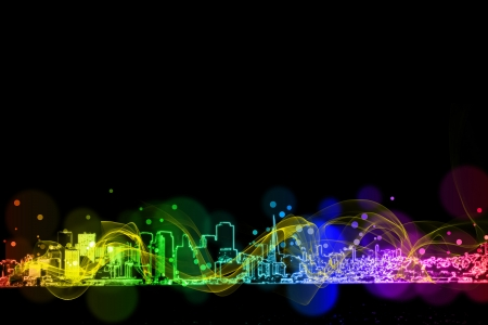 neon city colorful  light effect design Stock Photo - 18787662