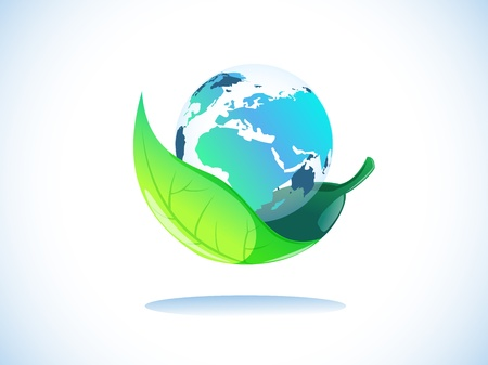 transparency earth in leaf protection Stock Vector - 18934953