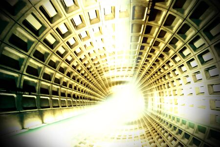 トンネル: トンネルの終わりに光 写真素材