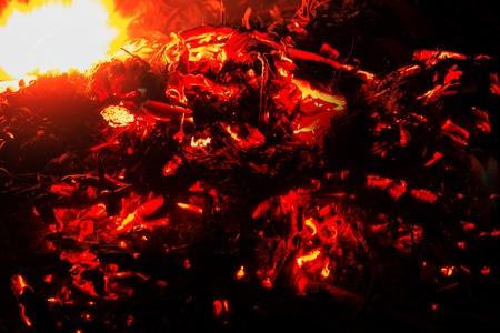 log fire: log di legno naturale brace fuoco ardente Archivio Fotografico