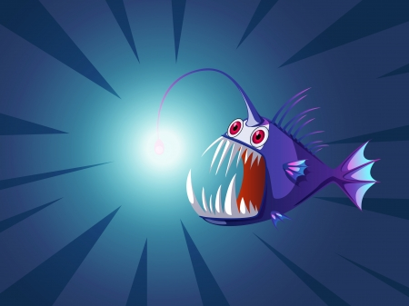 angler fish with light on head Stock Vector - 19461930