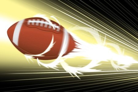 Football flying in speed motion effect photo