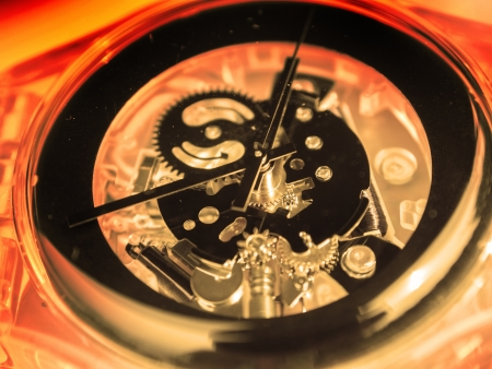 close up view of watch mechanism Stock Photo - 20269598