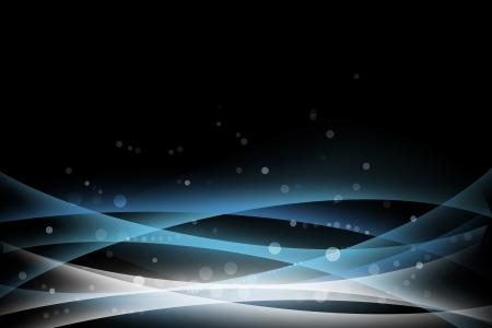 line curve splash on dark blue background Stock Photo - 20274601