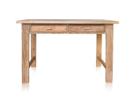 tabulka: vintage stůl izolovaných na bílém pozadí