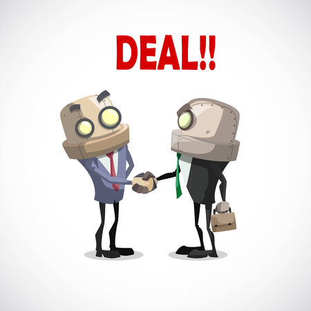 trustworthy: two business have a deal by shaking hands, business concept