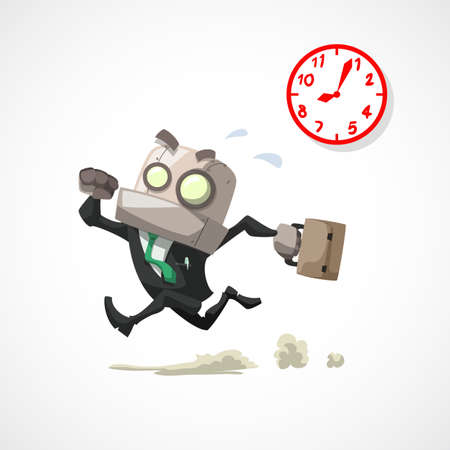 rush hour: businessman running in rush hour, business concept