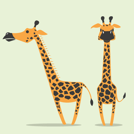 african art: image graphic style of giraffe  isolated on white background Stock Photo