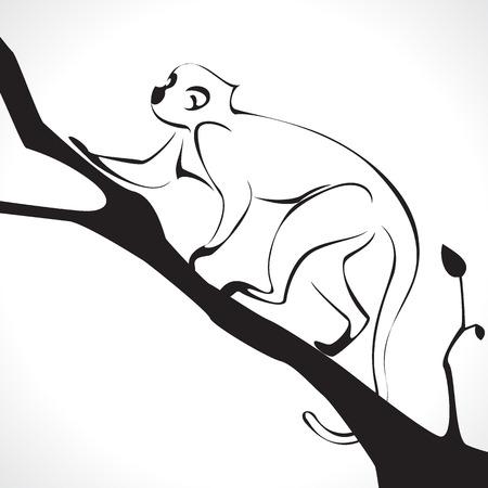 image graphic style of monkey  isolated on white background photo