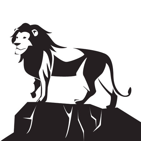 royal safari: image graphic style of lion  isolated on white background