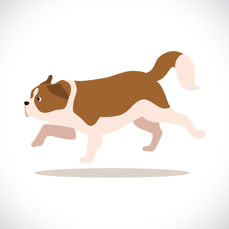 swiss alps: St. Bernard rescue Dog. Vector Illustration