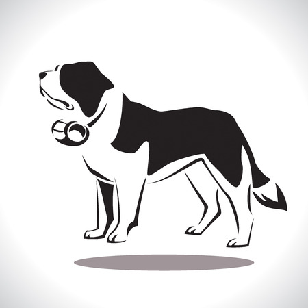St. Bernard rescue Dog. Vector Illustration