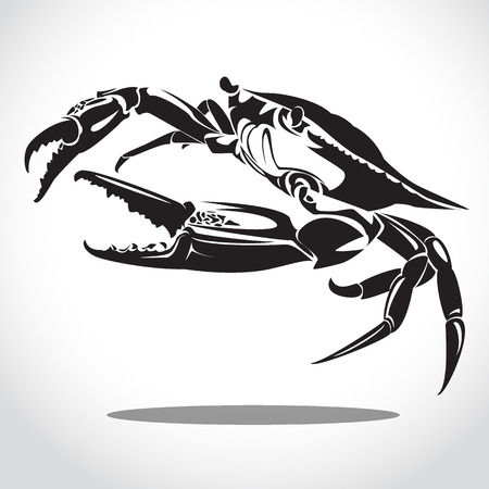 cancer crab: image graphic style of crab  isolated on white background Stock Photo