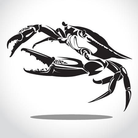 cancer zodiac: image graphic style of crab  isolated on white background Stock Photo