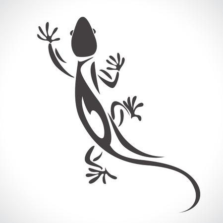 jaszczurka: obraz graficzny styl kameleona jaszczurki na białym tle Zdjęcie Seryjne