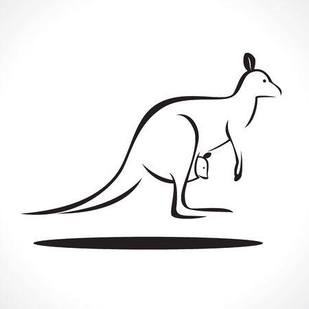 kangaroo white: image graphic style of kangaroo  isolated on white background Stock Photo