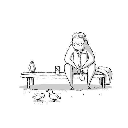 drawing cartoon: image drawing cartoon style of working life