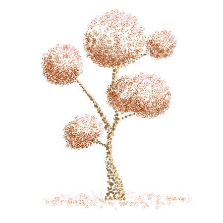 illustation: Graphic tree illustation for element design