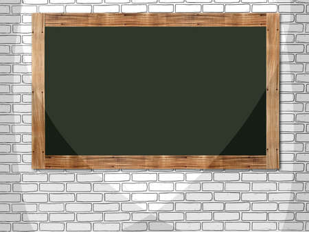 Blank frame with interior background in line art style