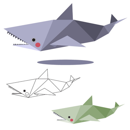 127 Origami Shark Cliparts Stock Vector And Royalty Free Origami