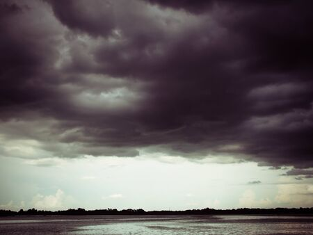 storm coming: Dramatic Cloud blur sky,storm coming sky use for Background Stock Photo