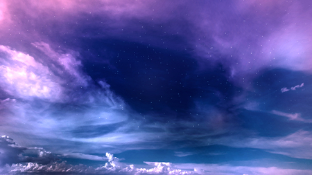 space night sky with cloud and star, abstract background Stock Photo