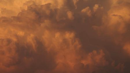 Texture of sunset cloud sky in warm color Reklamní fotografie