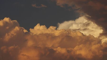 Sky full with clouds in the evening background