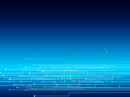 Graphic of line electronic network on dark blue background use as business and technology concept, vector background