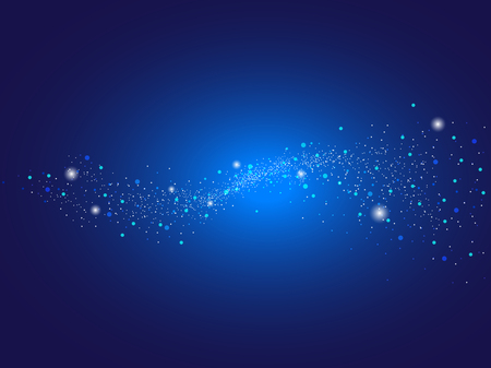 Abstract light dots vector background