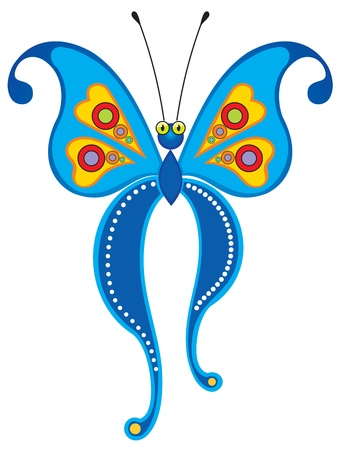 Blue butterfly  Stock Vector - 12485262