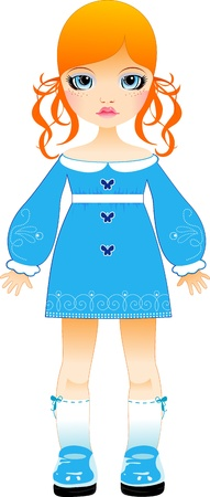 expressive style: Vector doll