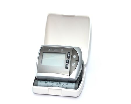 tonometer for measuring blood pressure on  white background Stock Photo