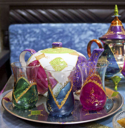 moroccan teapots and cups
