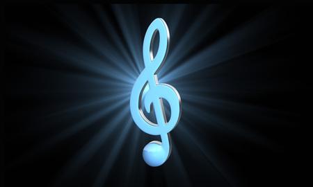 chiave di violino: chiave di violino blu Archivio Fotografico
