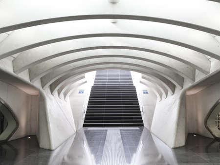 Futuristic railway station