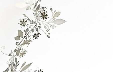 Beautiful romantic Background  with garland of flowers and leaves Stock Photo - 16900735