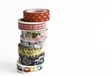 Japanese Washi Masking Tape, decoration Tape  Stock Photo