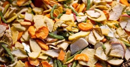 Mixture of dried vegetables  Stock Photo