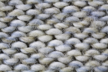 Knitted wool background in offwhite
