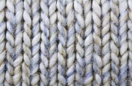 Knitted wool background in white Stock Photo