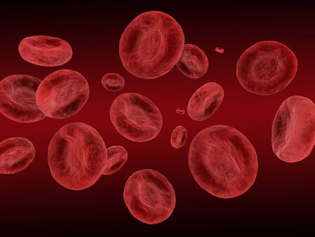 3d render of red blood cells in high detail