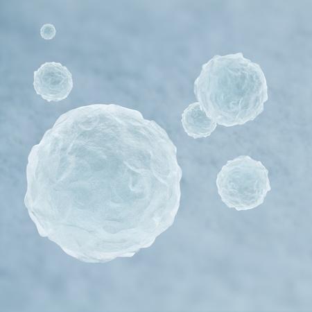 3D Render of flying snowballs in white winter