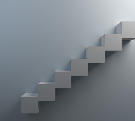 leading light: 3D Staircase leading to  Light Stock Photo