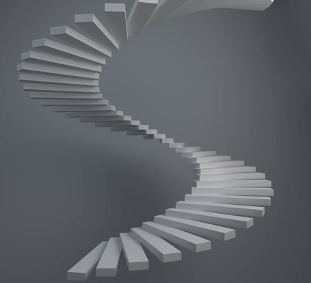 Abstract 3D composition of white spiral staircase Stock Photo - 18570706