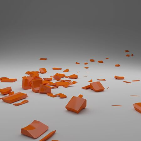 shards:   3D Render of  shards scattered across the  surface