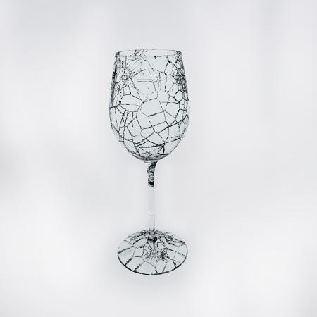 shards:   3D Render of glass shards, broken wineglass Stock Photo