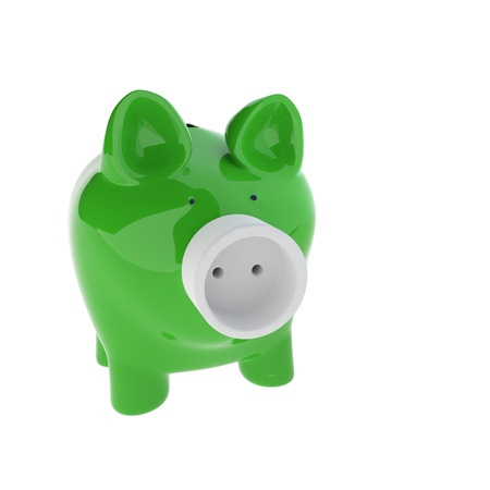 3d rendering of Piggy with Electric Plug as a Concept