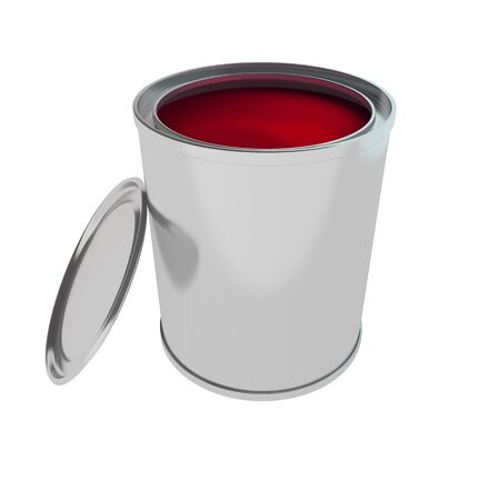 paintbucket: 3d rendering of Paint Can isolated on white